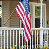 Porch Railing with Flag